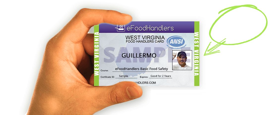 west virginia food handlers card | efoodhandlers® | $7